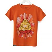 buddha, woman, t-shirt, orange