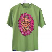 ganesha, man, t-shirt, green