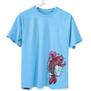 koi, man, t-shirt, blue