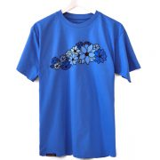 lotus, man, t-shirt, blue
